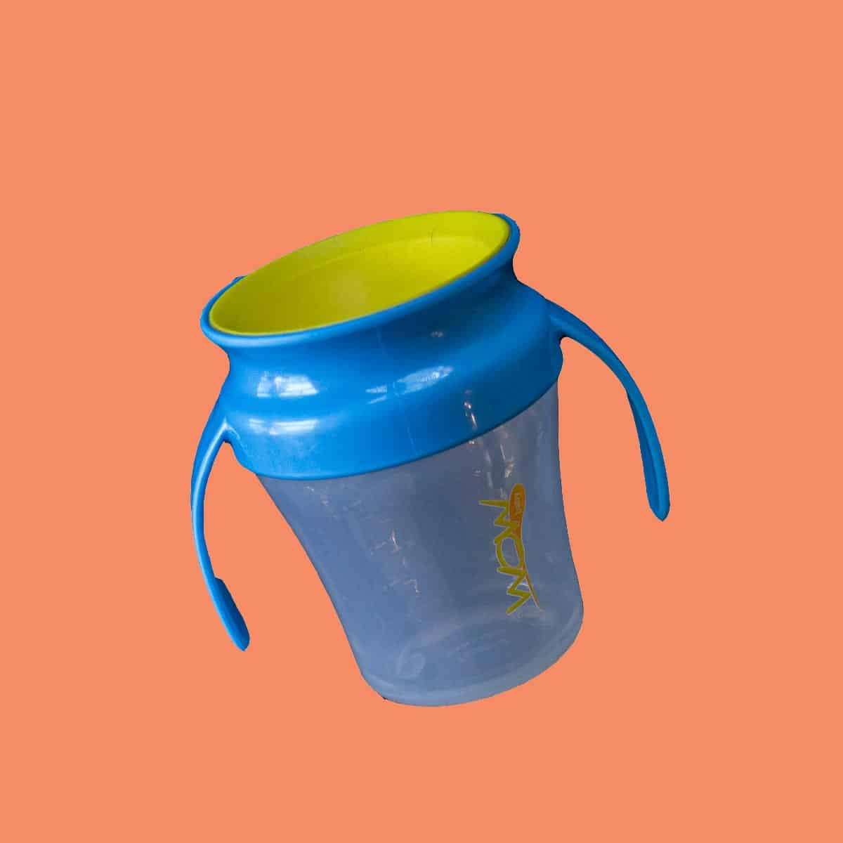 wow cup on pink background
